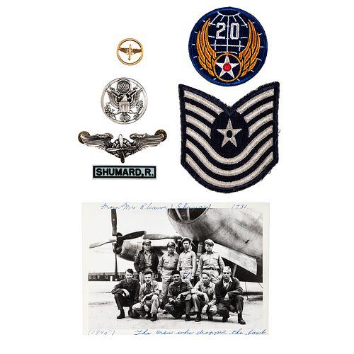 [WORLD WAR II]. SHUMARD, Sgt. Robert (1920-1967). Archive identified to Enola Gay Assistant Flight Engineer Robert Shumard, incl. photographs, autogra