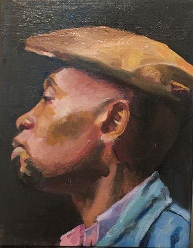"""Portrait of a Young Black Man"" by Pamela Jennings, Brooklyn, NY"