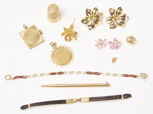 Misc. 14K and 18K Gold Jewelry Lot