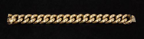 Heavy 14K Yellow Gold Link Bracelet