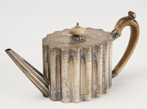 18th century Silver English Teapot
