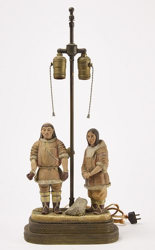 Unusual Russian Figure Mounted as a lamp