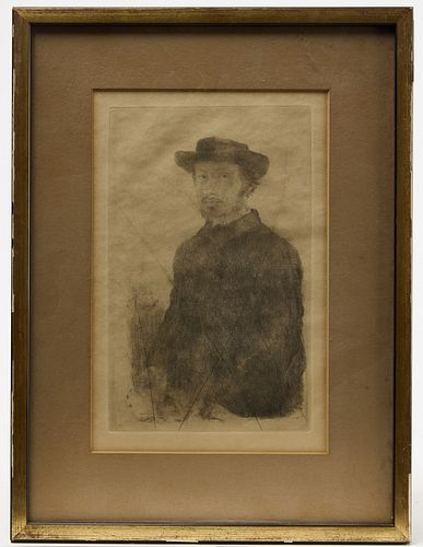 Etching by Degas - Bellows- Rembrandt