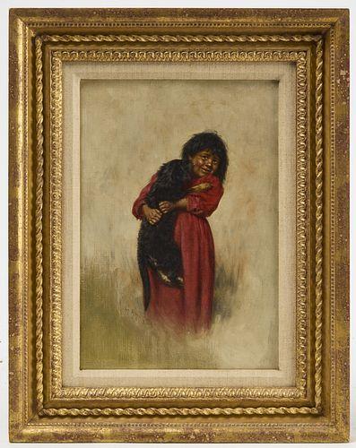 Grace Hudson - Native Child with Dog
