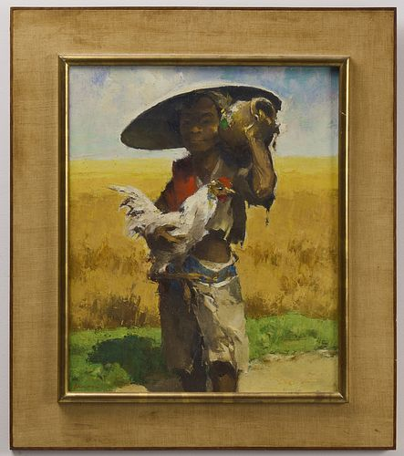 G.P. Adolfs Boy with Rooster