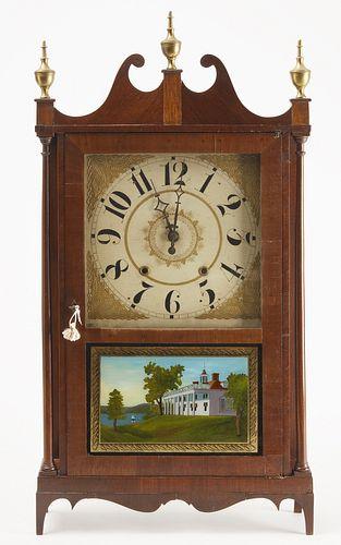 Pillar & Scroll Clock