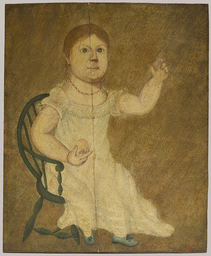Early Folk Art Portrait of a Child