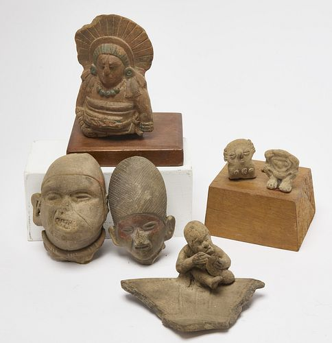 Six Pre Colombian Pottery Objects