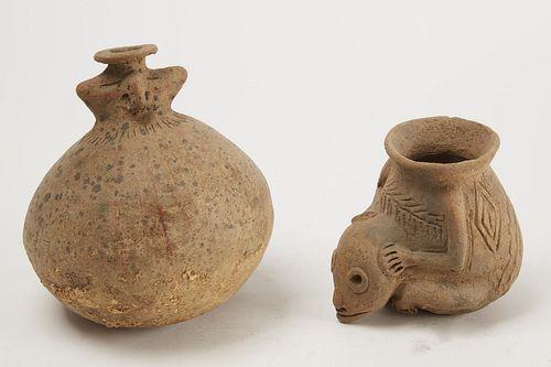 Two Pre-Columbian Vessels