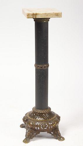 Fine European Brass Mounted Display Pedestal