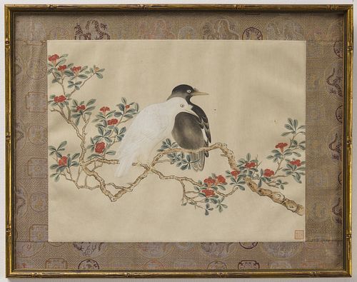 Two Asian Paintings of Birds