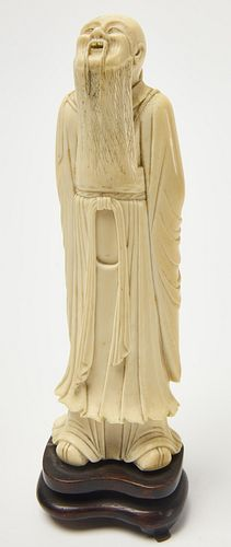 Carved Bone Chinese Figure