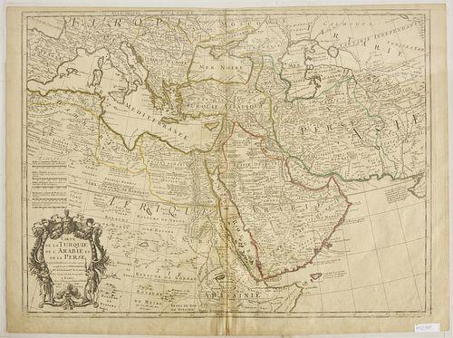 Map- Carte' de la Turquie -Paris 1701