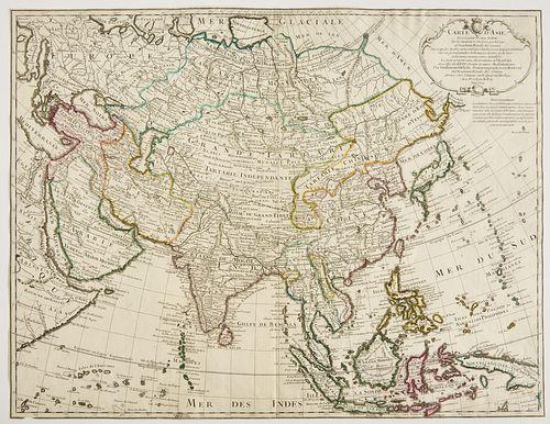 Map- Carte d' Asie - 1723