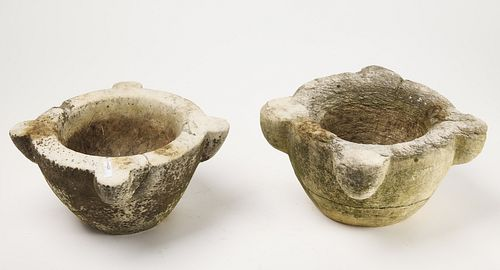 Two Early Stone Mortars