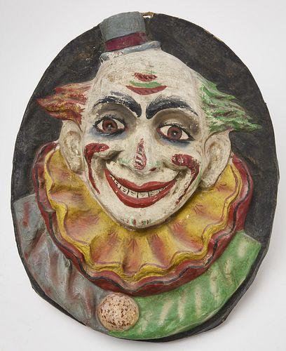 Clown Circus Wall Mounted Figure
