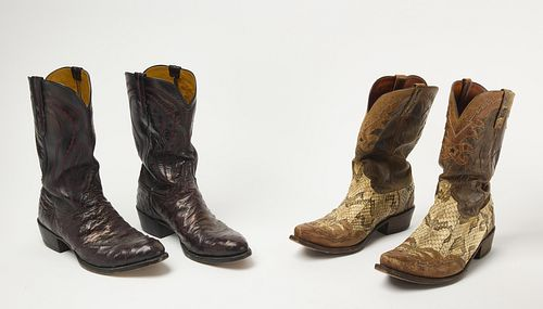 Four pair of Lucchese Cowboy Boots