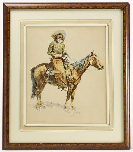 Original Frederic Remington Lithograph- 1901