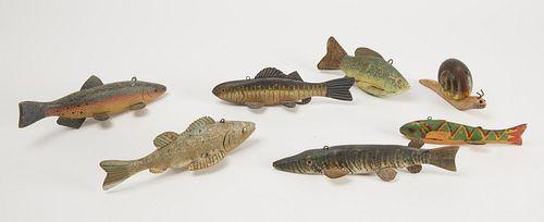 Seven Fish Decoys