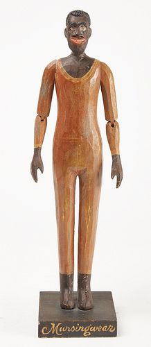 Carving of a Male African American