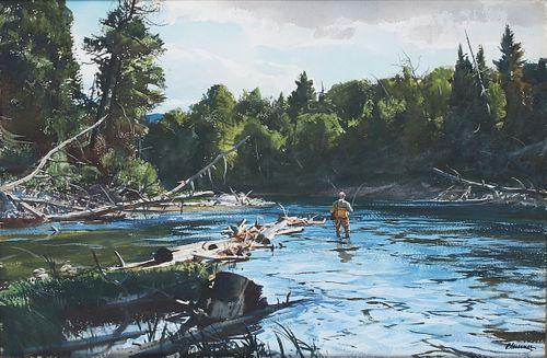 Ogden M. Pleissner (1905-1983), June Trout Fishing