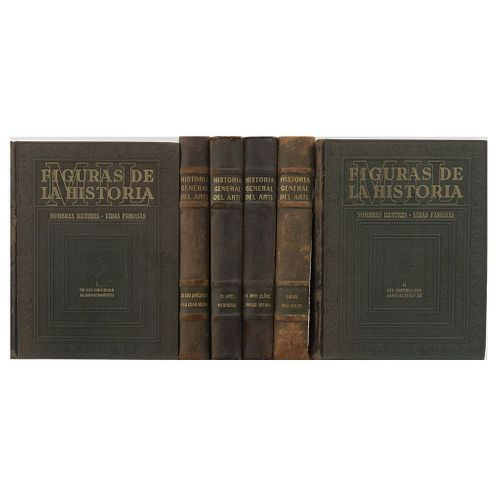 Huisman, Georges / Vicens Vives, Jaime. Historia General del Arte. / Las Figuras de la Historia. 1947 / 1944. Piezas: 6.