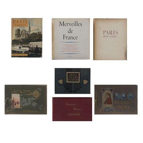 LIBROS ILUSTRADOS DE LONDRES, FRANCIA Y VENECIA. Merveilles de France. Francia: Arthaud, 1960. Piezas: 8.