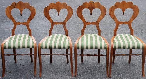 Set of (4) Vienna Biedermeier Chairs