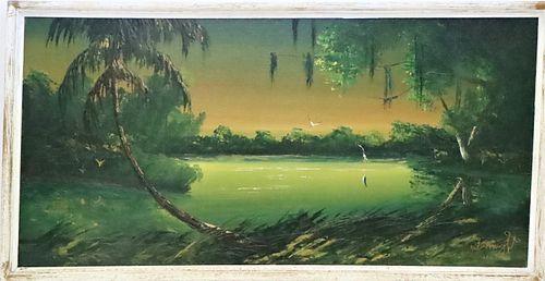 Issac Knight (20th c) Florida Highwaymen, Oil/B