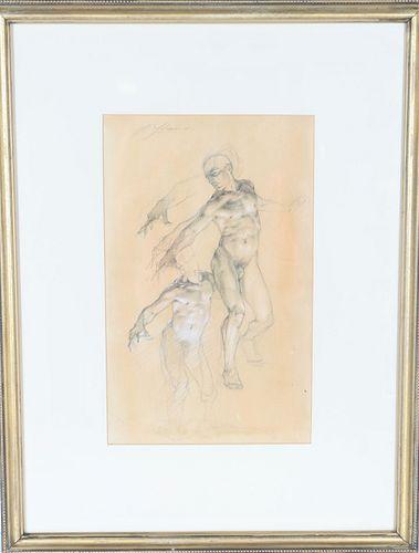 Robert Liberace (b 1967) American, Nude Pencil / P