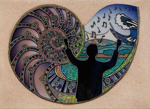Carl Lopes, Harmony, 2021 Pops by the Sea Commemorative Artwork
