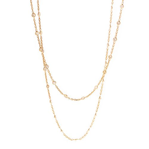 A 10.00 ctw Diamonds by the Yard Necklace in 14K