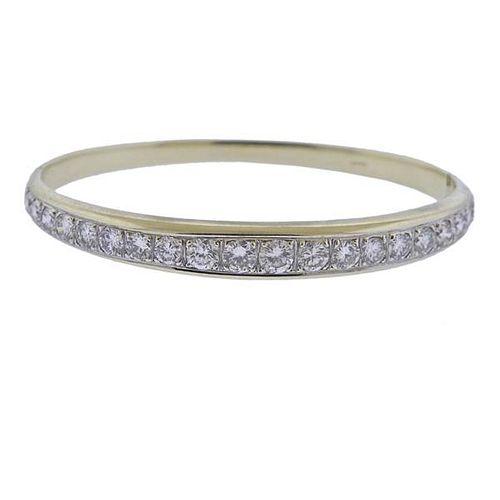 14k Gold 3.50ctw Diamond Bangle Bracelet