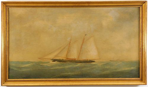 Attrib. Thomas Buttersworth Maritime Ship Painting
