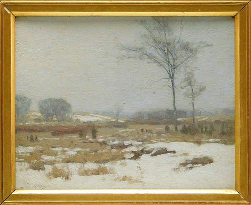 John Fabian Carlson Winter Landscape Painting