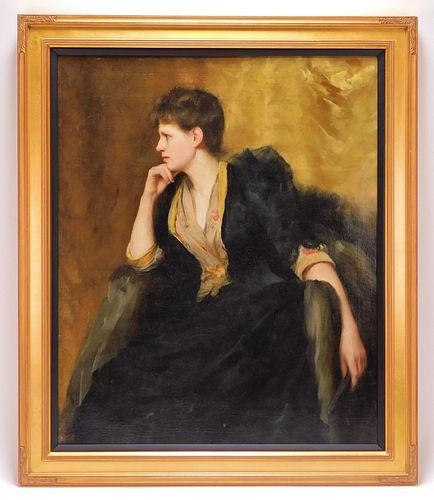 Isaac Henry Caliga Portrait of a Woman Painting
