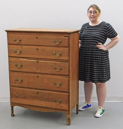 18C American Period Pine Chest of Drawers