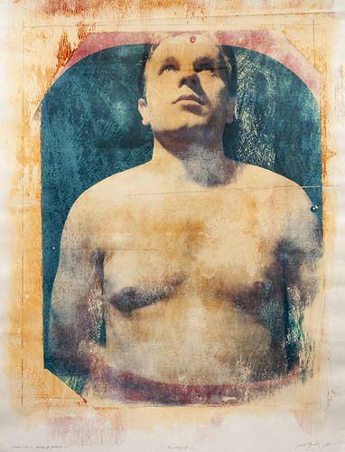 Paolo Gioli (Italian, b. 1942) A group of three polaroids (Untitled (Double Male Portrait), 1985; Omaggio a Muybridge, 1985; L'uomo con il Petto di Do
