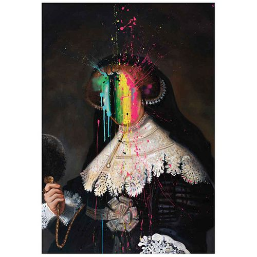 """DIEGO RODARTE, Personaje XXXII, Signed and dated 2020, Oil on canvas, 39.3 x 27.5"""" (100 x 70 cm), Certificate"""