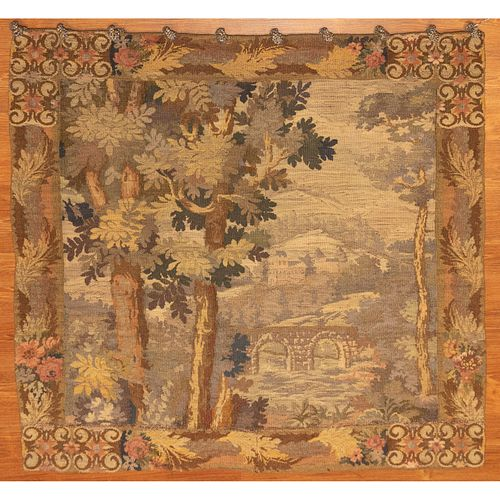 Flemish Style Tapestry, 4.3 x 4.4
