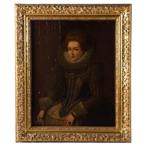 Artist Unknown, 19th c. Queen Elizabeth I, oil