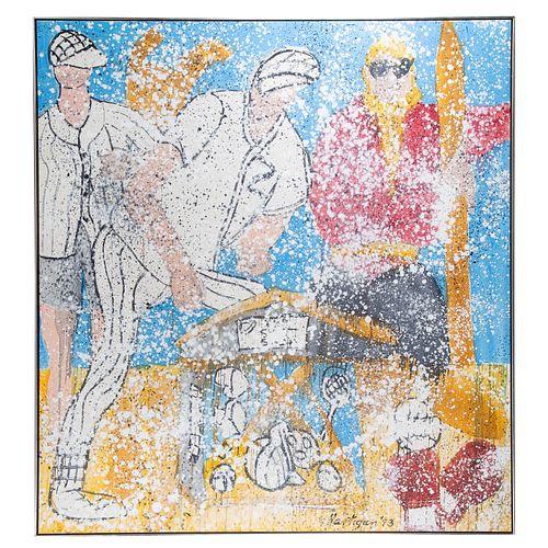 "Grace Hartigan. ""Sporting Goods,"" oil on canvas"