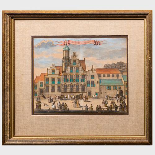Gerrit van Giessen (1692-1750): Het Oude Hof; Huis Van Prins Maurits Van Nassau; Huis Van Assendelf nu't Hof van Spanje; and De VleeschiHal