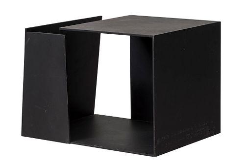 "JORGE OTEIZA ENBIL (Orio, Guipúzcoa, 1908 - San Sebastián, 2003). ""Metaphysical Box, Tribute to the Annunciation by Fra Angelico"". Iron. Signed, title"