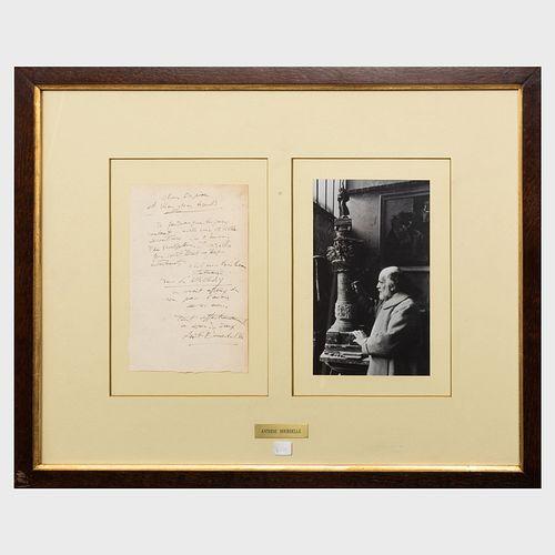 Emile Antoine Bourdelle (1861-1929): Autograph Letter