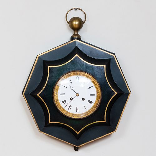 French Tôle Peinte Wall Clock