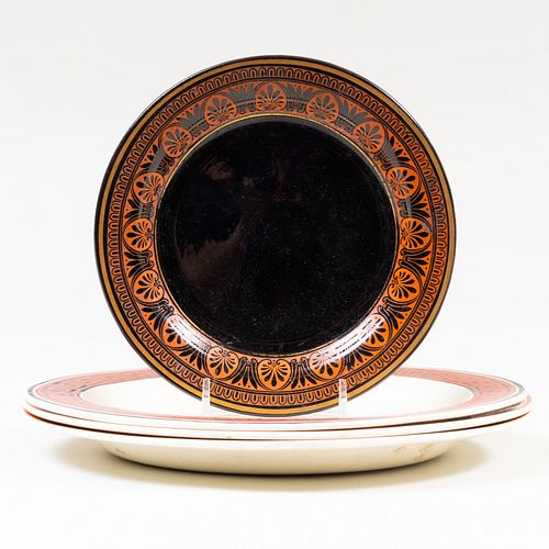 Group of Four English Plates with Classical  Neoclassical Themes