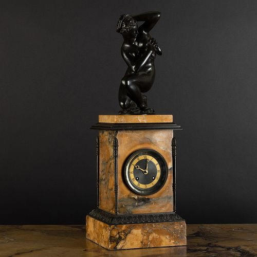 Late Louis Philippe Bronze-Mounted Marble Mantle Clock, Possibly English