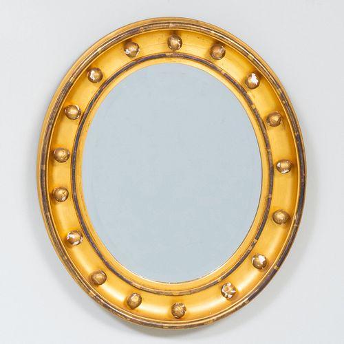 Small English Oval Giltwood Mirror
