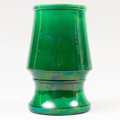 Green Glazed Vase, Possibly Japanese